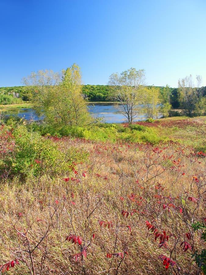Forêt d'état de moraine de bouilloire de grange de La de lac photos libres de droits