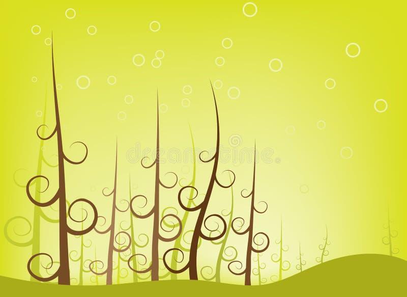 Forêt d'arbre de remous illustration de vecteur