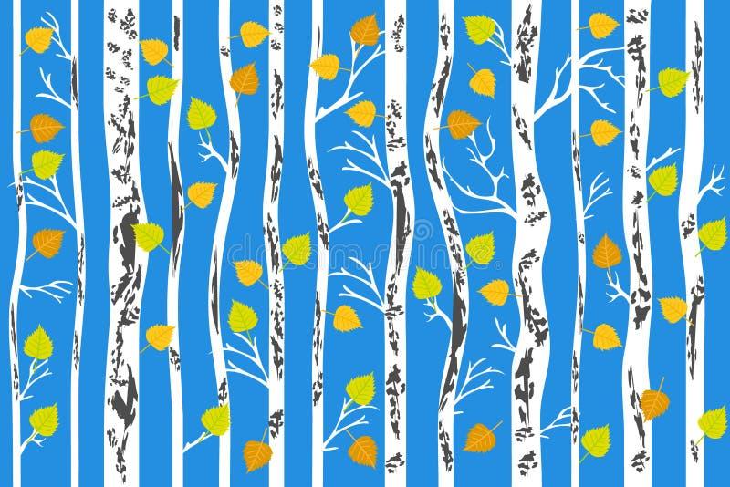 Forêt d'or d'automne illustration libre de droits