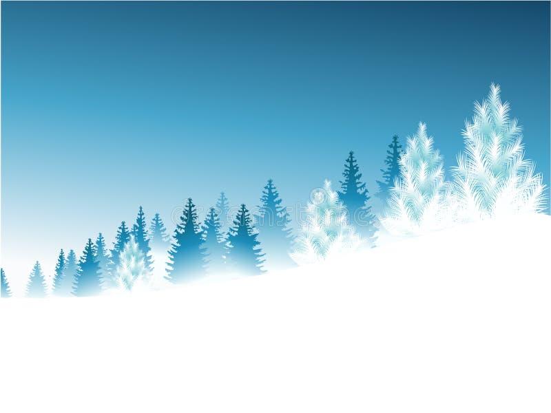 Forêt d'hiver illustration de vecteur