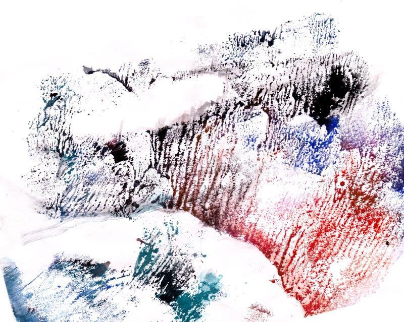 Forêt d'hiver sur le coucher du soleil illustration de vecteur