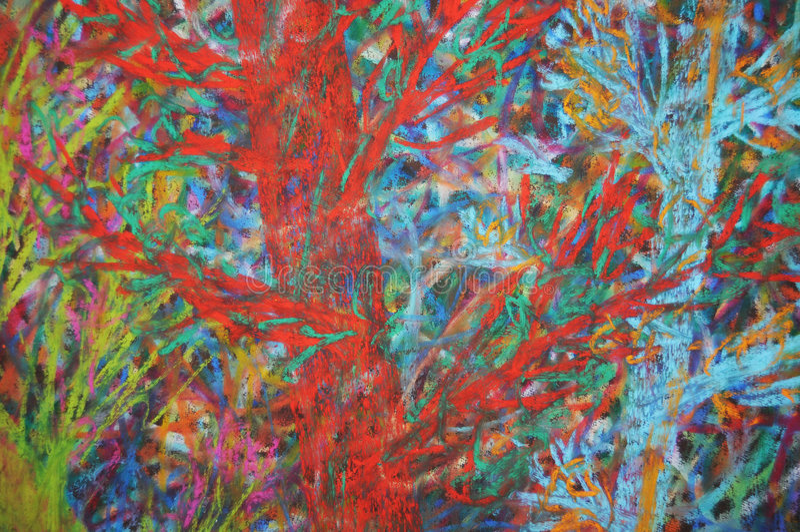 Forêt de chaos image libre de droits