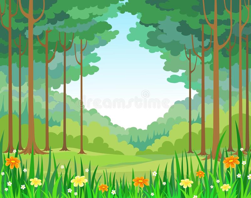 Forêt de fond de vecteur