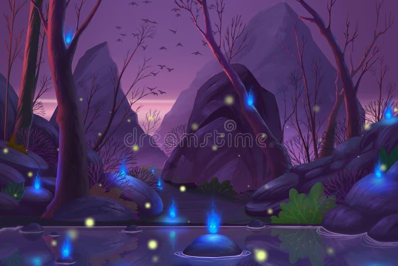 Forêt de Ghost illustration stock