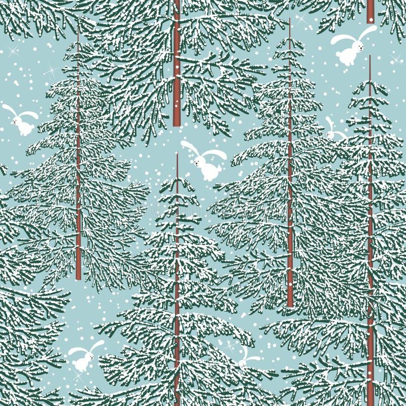 Forêt de l'hiver illustration stock