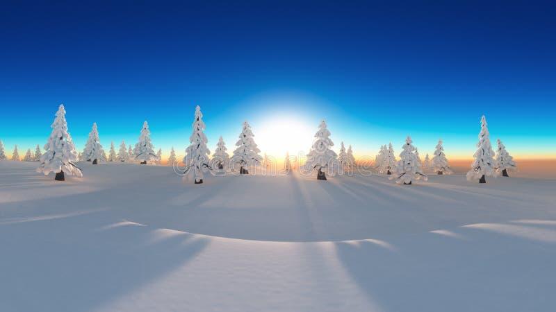 Forêt de neige illustration de vecteur