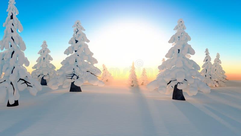 Forêt de neige illustration libre de droits