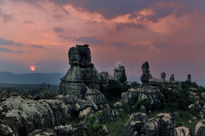 Forêt de pierre de Chine photos stock