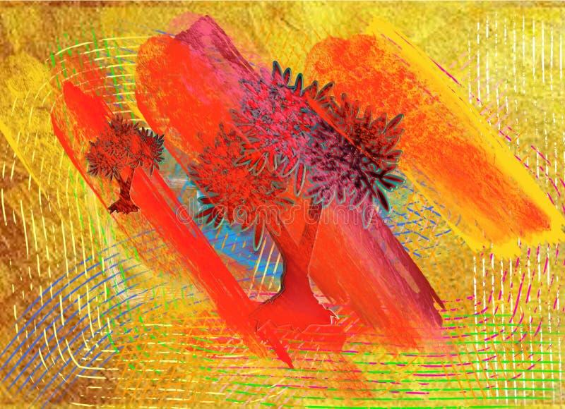 Forêt de sang présentée par image vive de vecteur de couleurs illustration de vecteur