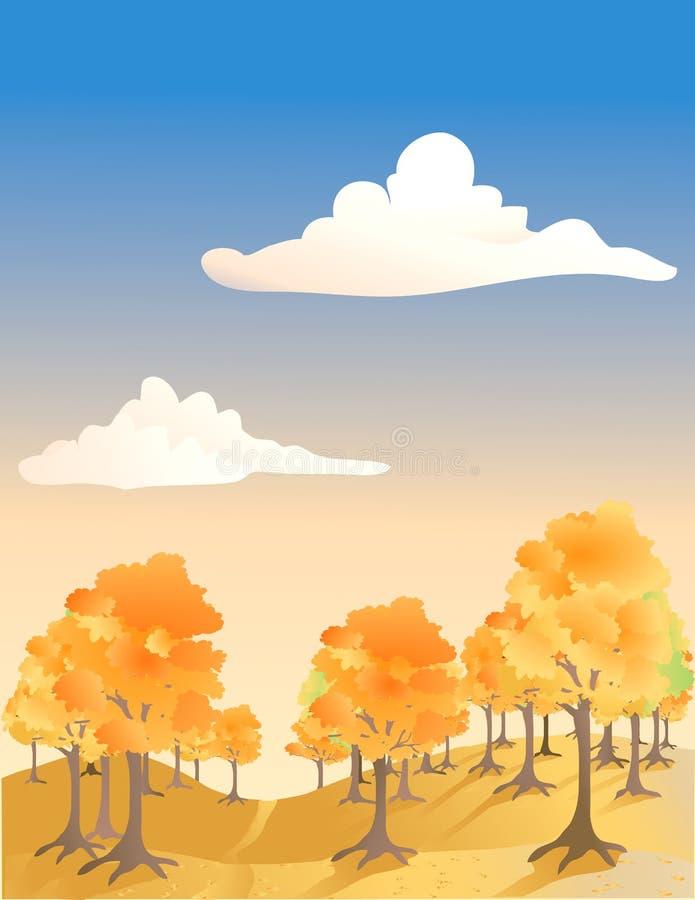 Forêt en automne illustration stock