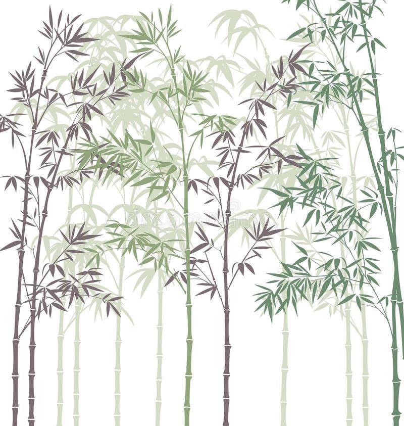 Forêt en bambou illustration de vecteur