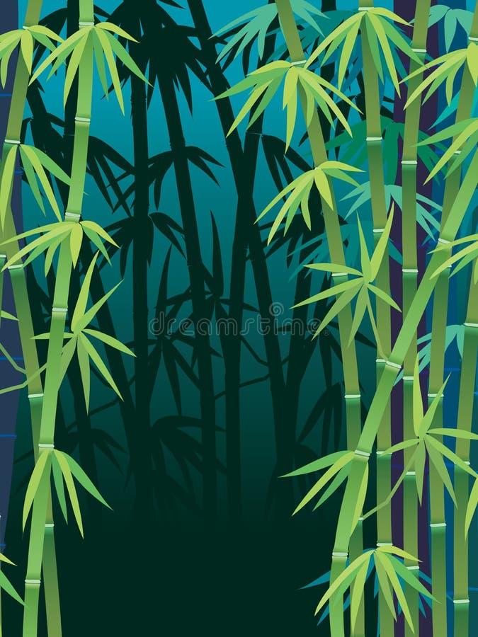 Forêt en bambou illustration libre de droits
