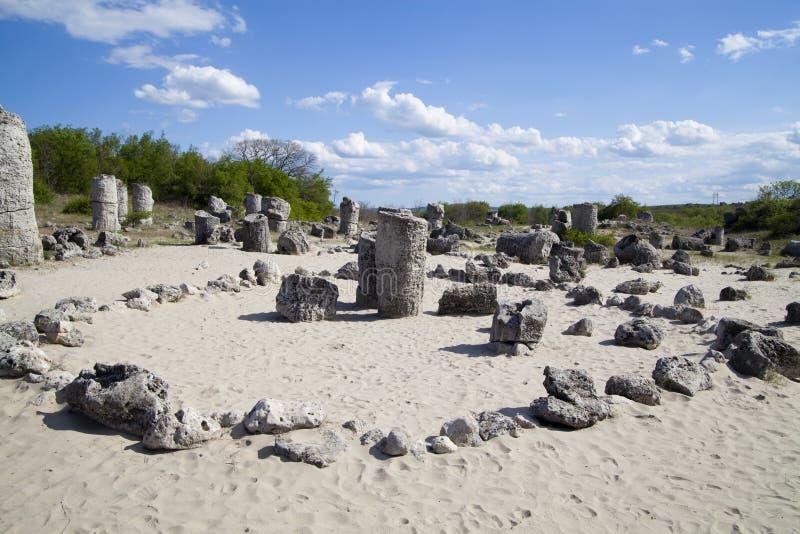Forêt en pierre près de Varna, Bulgarie image libre de droits