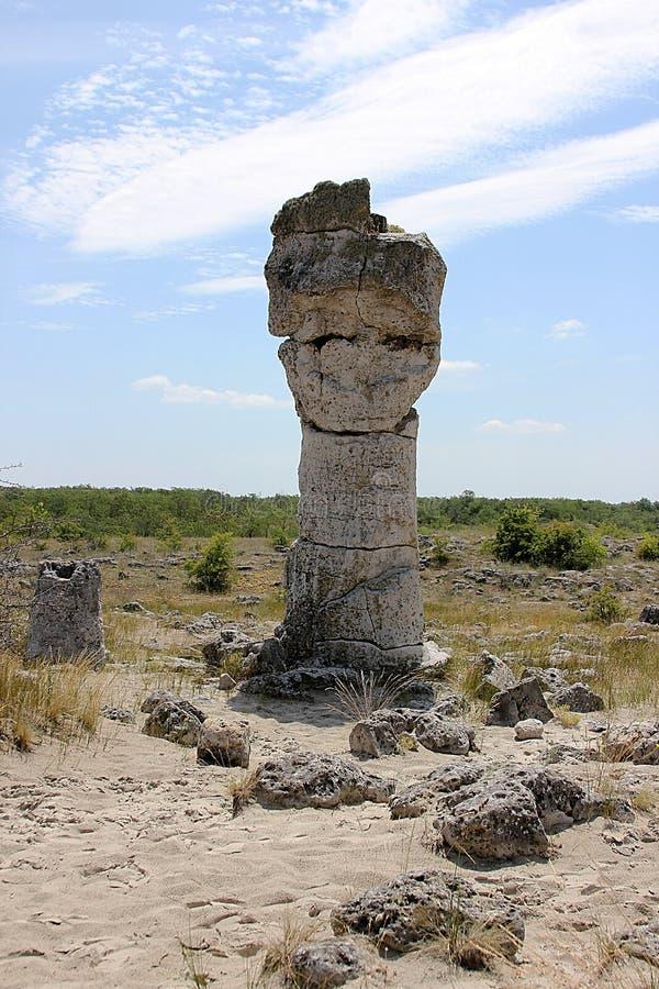 Forêt en pierre près de Varna, Bulgarie, kamani de Pobiti images libres de droits