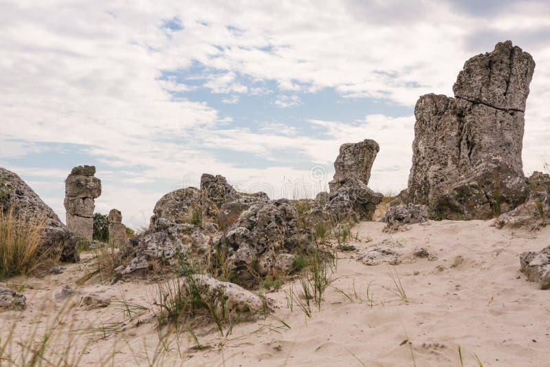 Forêt en pierre près de Varna, Bulgarie Pobiti Kamani image libre de droits
