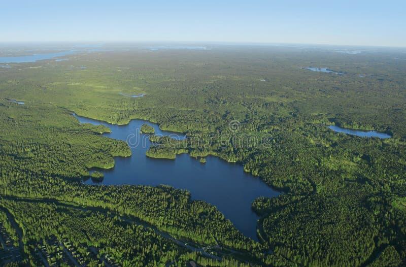 Forêt et lacs photo stock