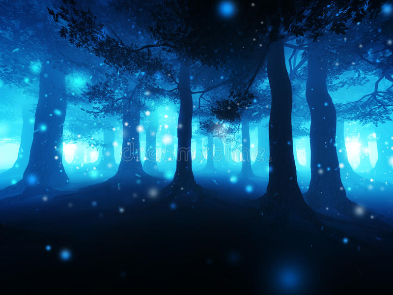 Forêt foncée illustration libre de droits