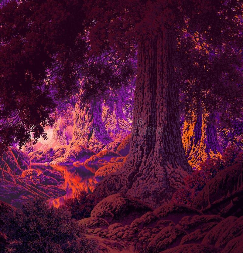 Forêt gothique image libre de droits