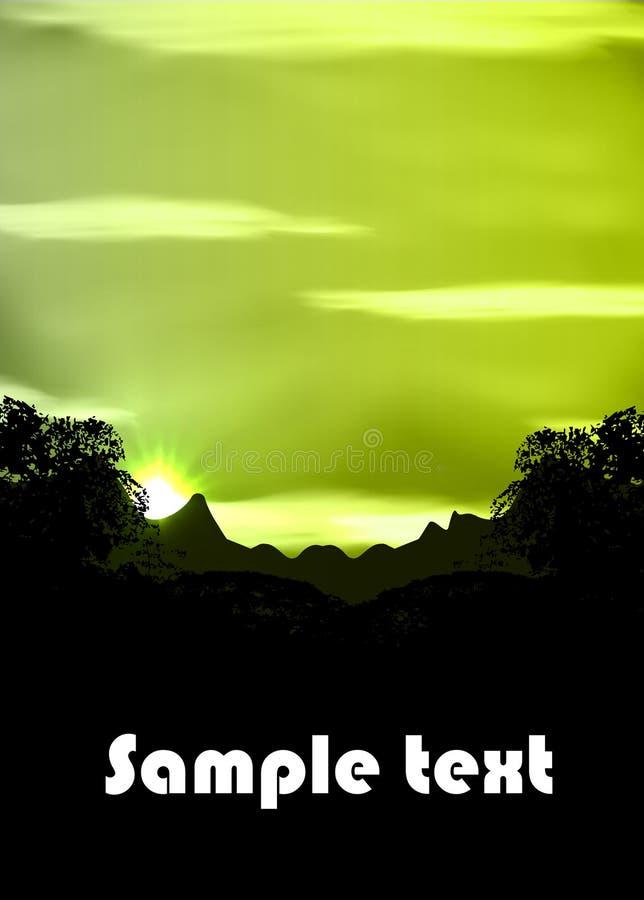 Forêt humide illustration stock