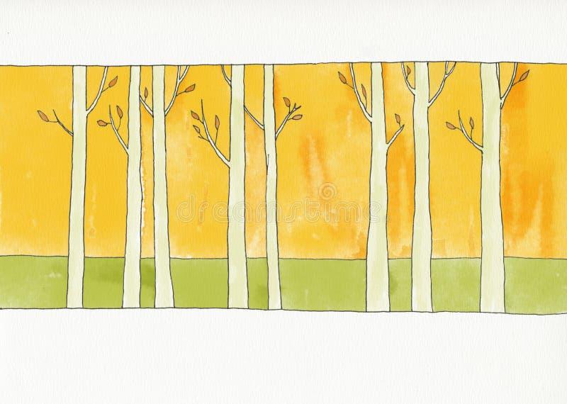 Forêt pendant l'automne illustration de vecteur