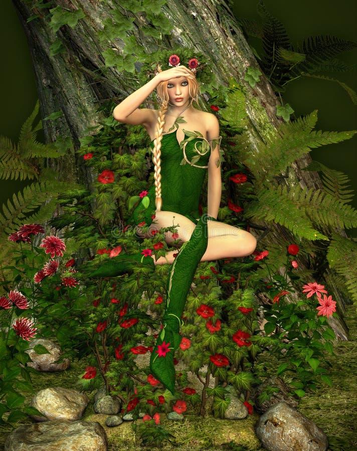 Forêt profonde Fae illustration de vecteur