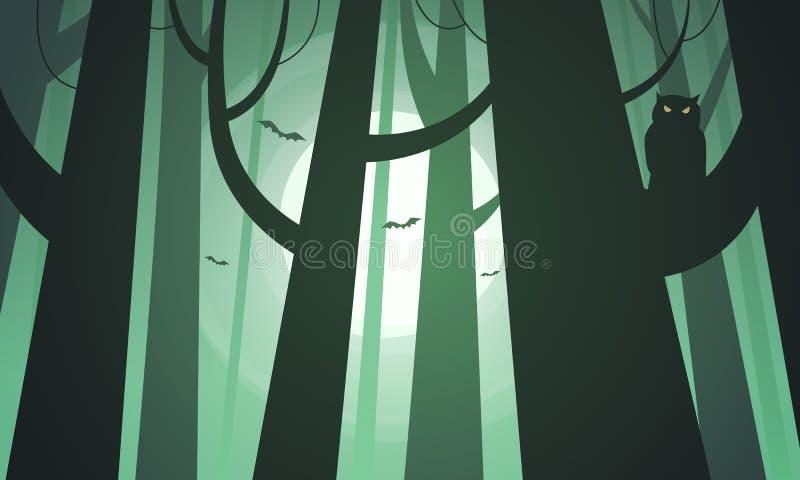 Forêt rampante illustration de vecteur