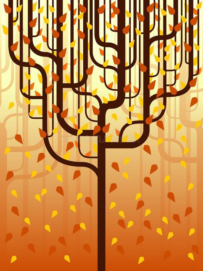 Forêt stylisée dans l'automne photographie stock