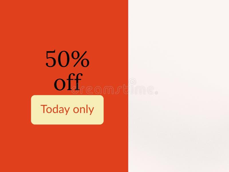 50% fora da página da venda de hoje para o uso ilustração do vetor