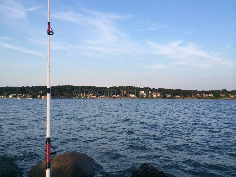 Fora da pesca da costa fotografia de stock