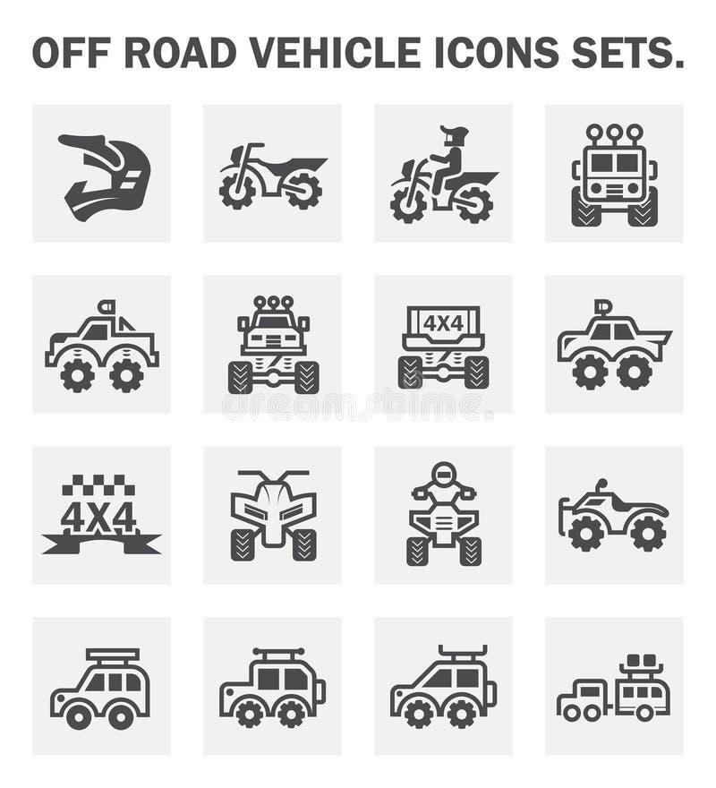 Fora do ícone da estrada ilustração royalty free