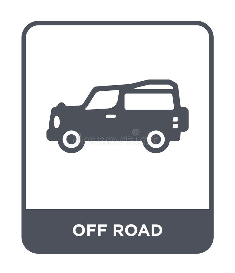 fora do ícone da estrada no estilo na moda do projeto fora do ícone da estrada isolado no fundo branco fora do plano simples e mo ilustração do vetor