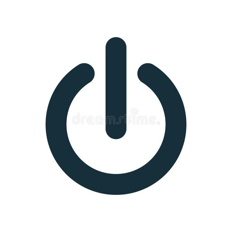 Fora do ícone do interruptor do botão do poder ilustração royalty free