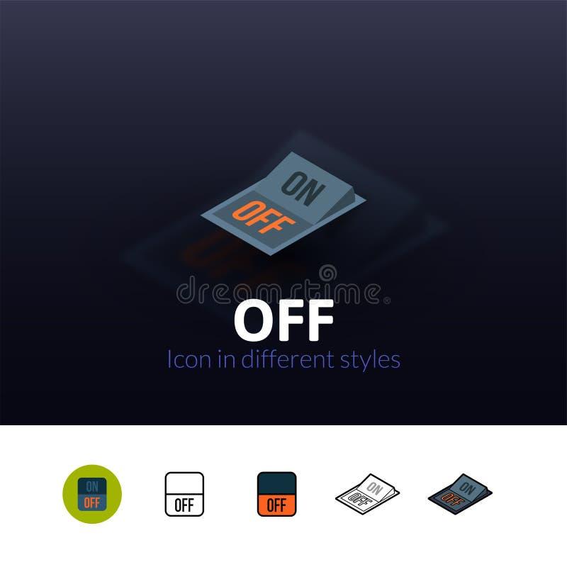 Fora do ícone no estilo diferente ilustração do vetor