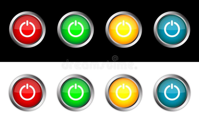 Fora do botão ilustração stock