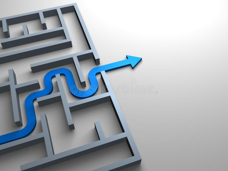 Fora do labirinto ilustração do vetor