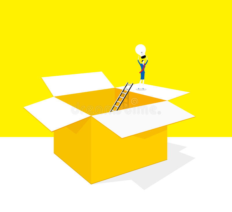 Fora do quadro ilustração do vetor