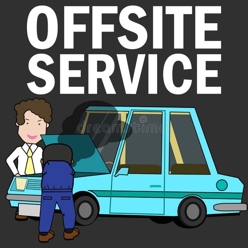 Fora do serviço de reparações do local que repara o carro ilustração do vetor