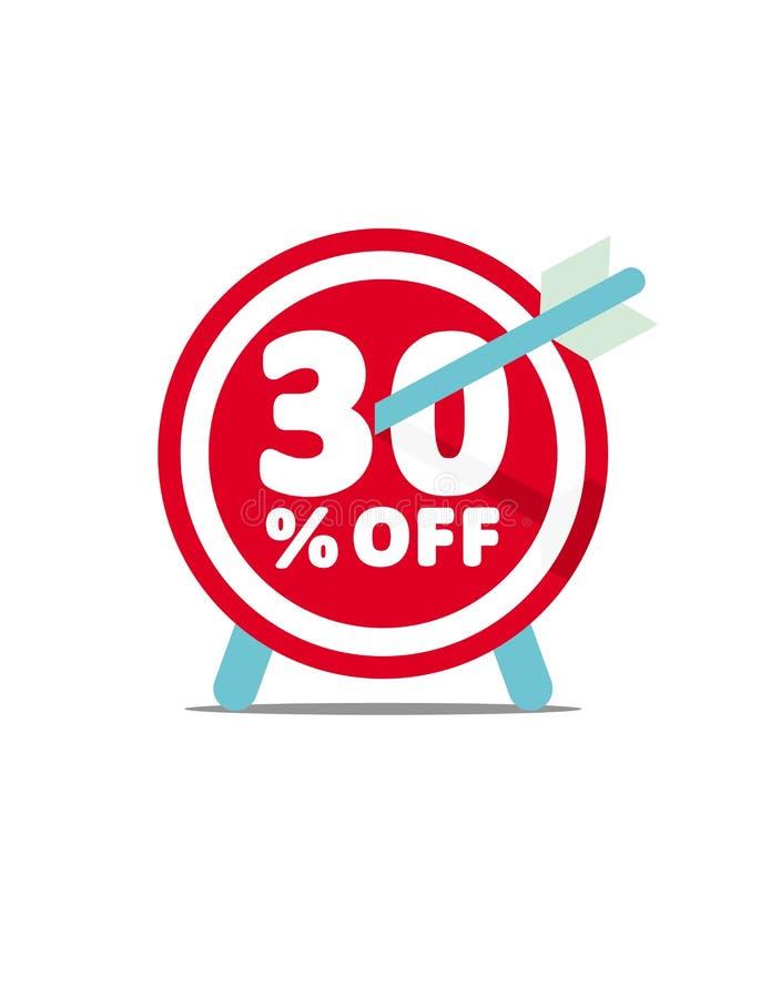 30% fora Gráfico de vetor do disconto ilustração do vetor