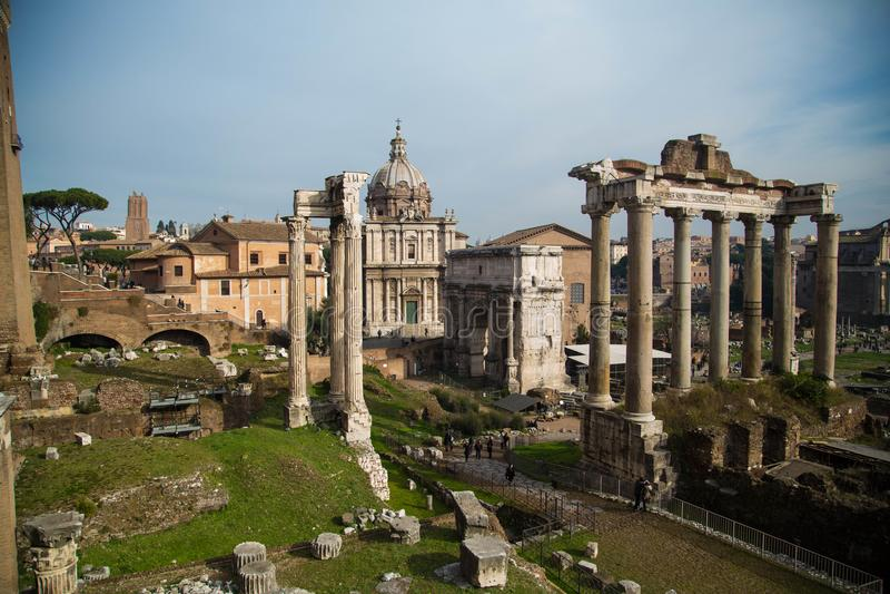 Fora Romanum arkivfoton