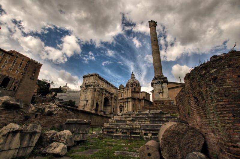 Fora Romanum arkivfoto
