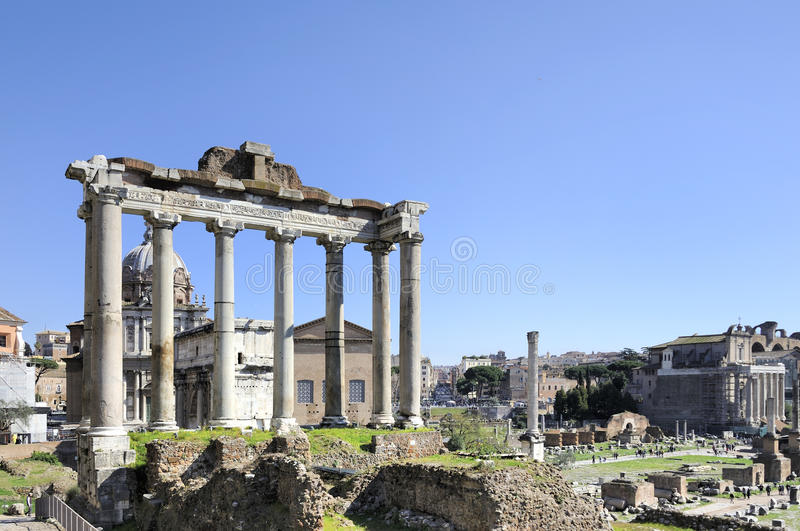 Fora Romanum royaltyfri bild