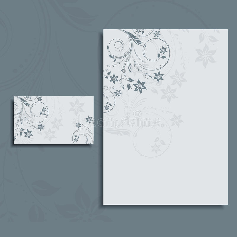 business letterhead with low poly mesh design stock