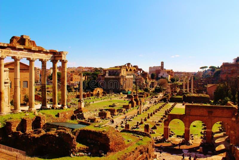 foraromanum rome royaltyfri bild