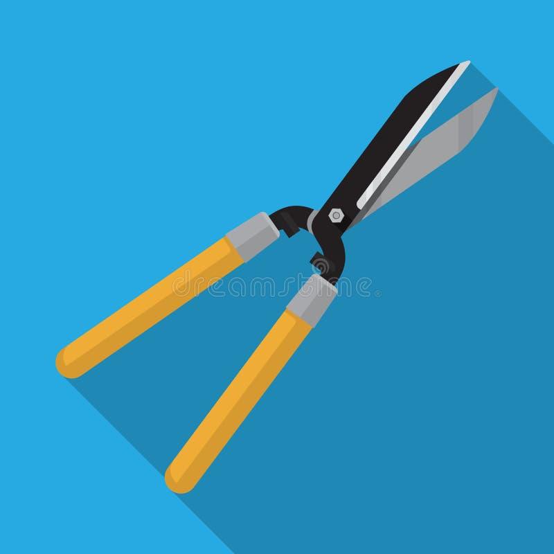 Forbici per forare tagliatrici con tagliatelle di legno per giardinaggio illustrazione di stock