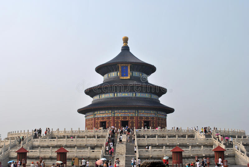 Forbidden city. Image of the forbidden city where he/she is seen the stairway that allows the access the building royalty free illustration