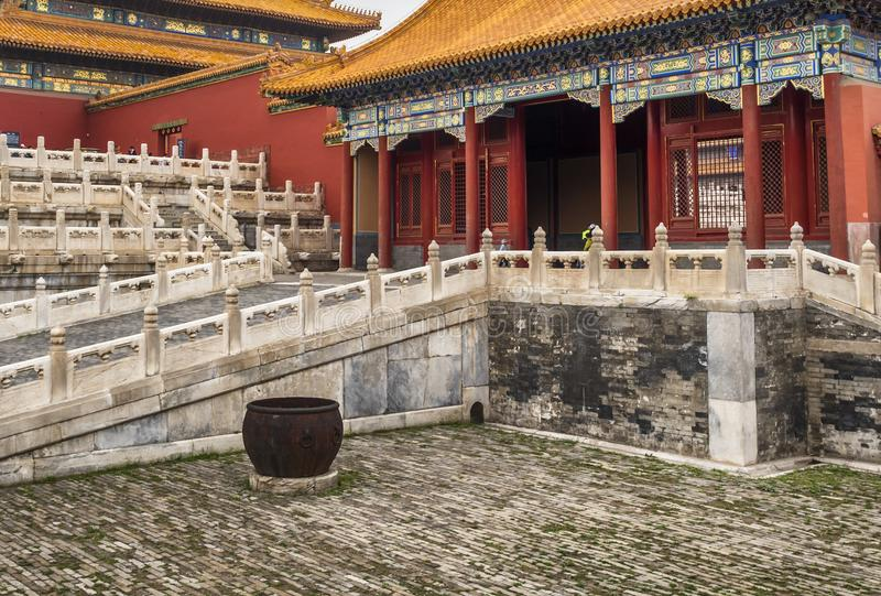 Forbidden city architecture, art and ornaments, Beijing, China stock photography