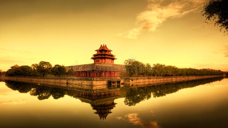 Forbidden City of Beijing China. Nice View of Forbidden City at dusk,Beijing, China stock photo