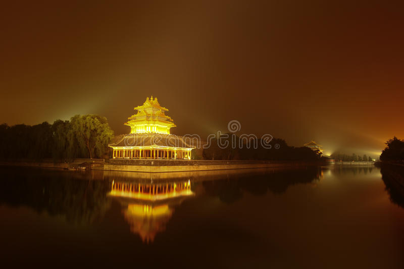 Forbidden City. Beijing China night