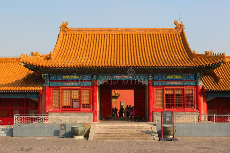 The Forbidden City. BEIJING, CHINA - OCTOBER 14, 2017: The Forbidden City (Palace museum), the Chinese imperial palace from the Ming dynasty to the end of the royalty free stock photos