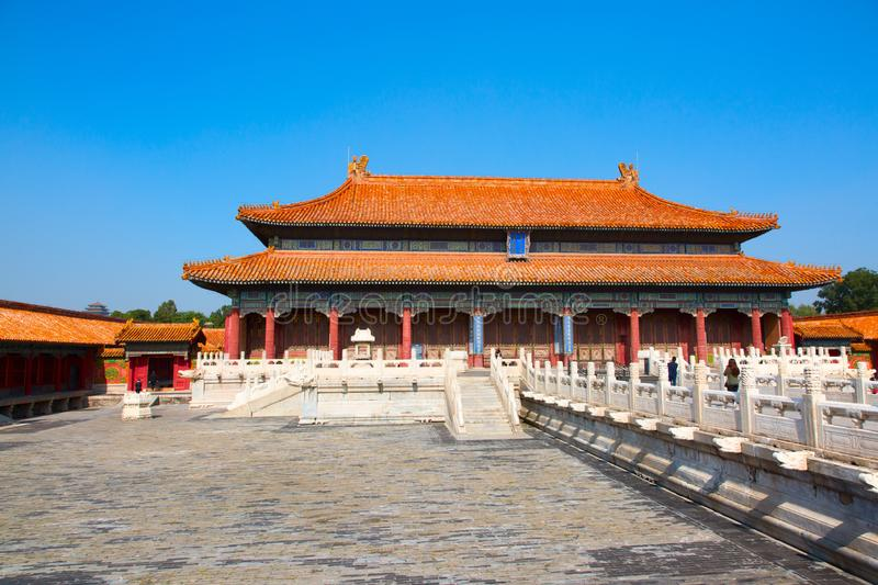 The Forbidden City. BEIJING, CHINA - OCTOBER 14, 2017: The Forbidden City (Palace museum), the Chinese imperial palace from the Ming dynasty to the end of the stock image